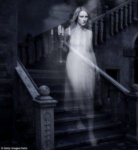 If you look closely, you'll see *two* ghosts. Her humanity eeking through, perhaps?
